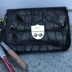 Ralph Lauren Leather Wristlet/Clutch